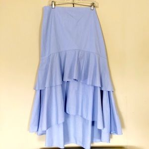 Banana Republic Blue Tiered Ruffle Maxi Skirt 16